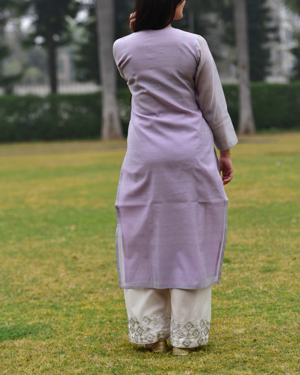 Lilac embroidered tunic 1