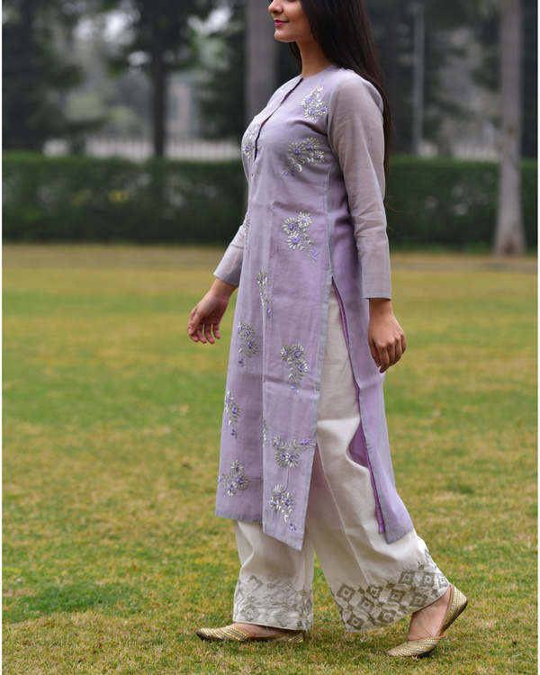 Lilac embroidered tunic 3