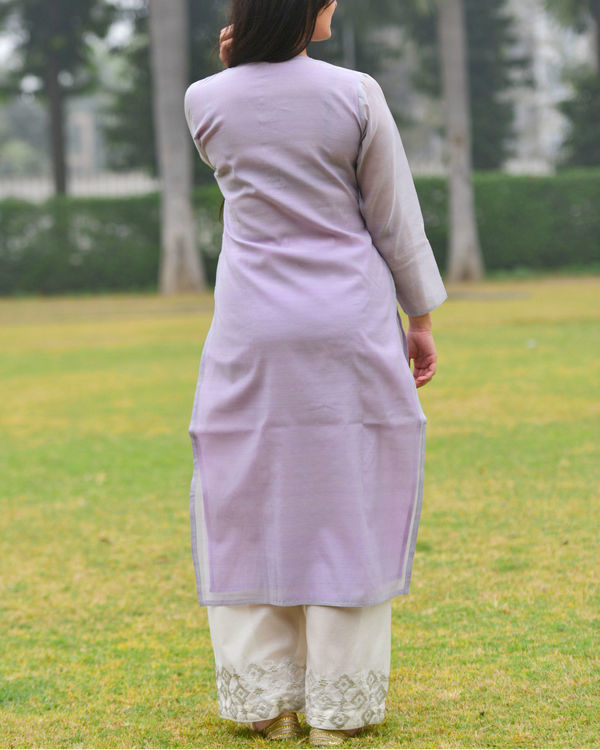 Lilac embroidered tunic 4
