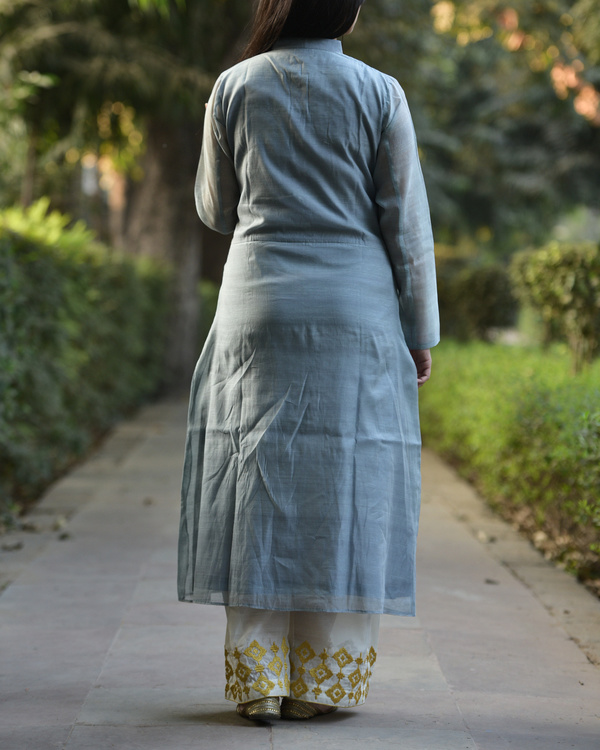 Grey embroidered tunic 1