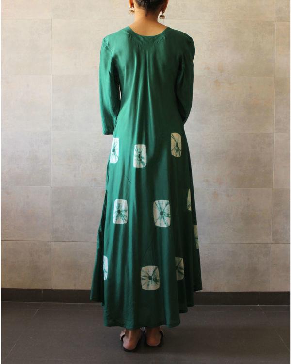 Green  ivory bandhej dress 2
