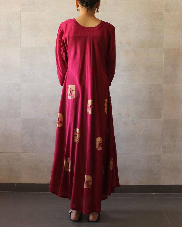 Red beige bandhej dress 2