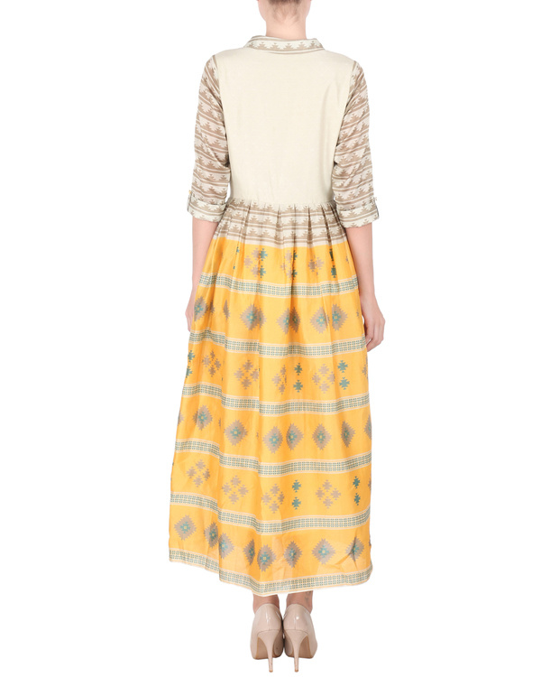 Chanderi long ankle length dress 2