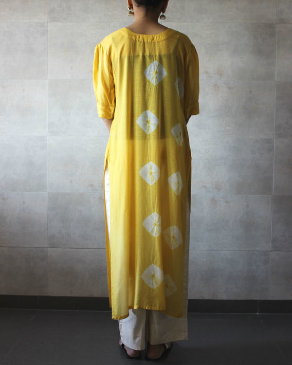 Yellow bandhej straight tunic 2