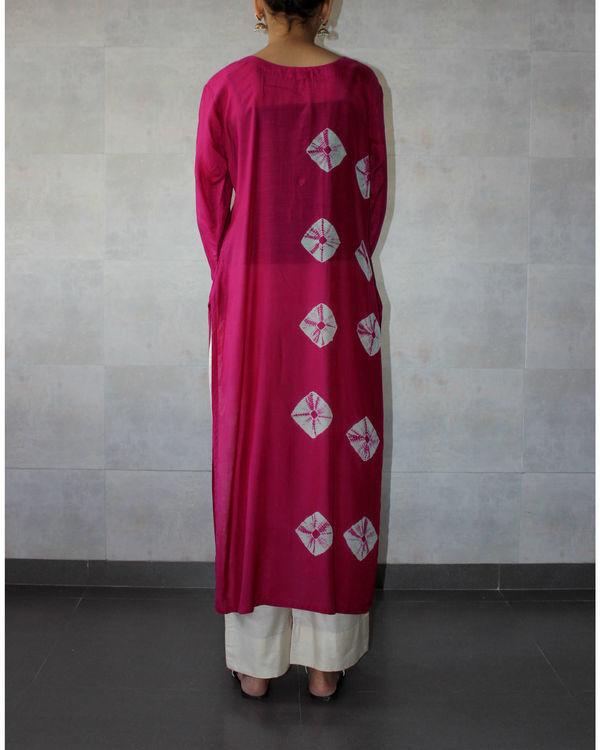 Pink bandhej straight tunic 2