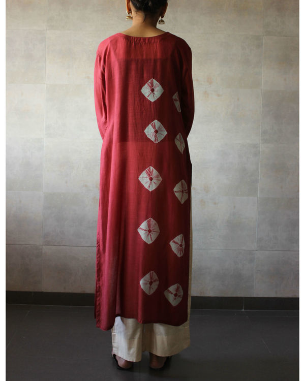 Rust bandhej straight tunic 2