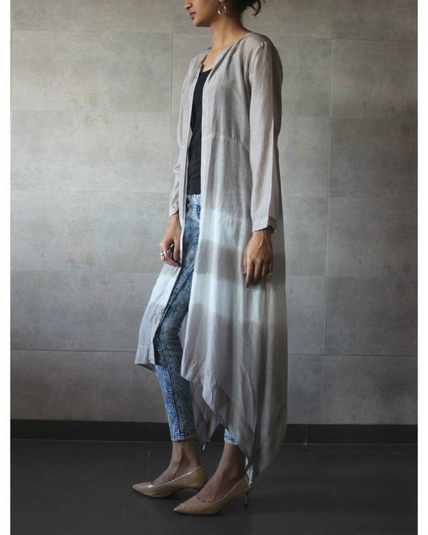 Grey batik cape 1
