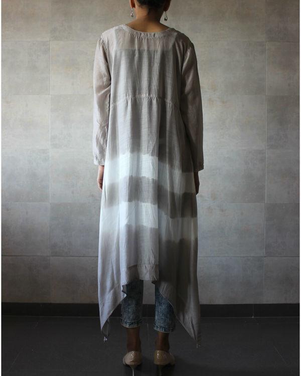 Grey batik cape 2
