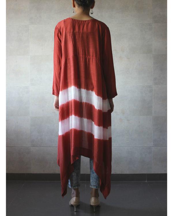 Rust batik cape 2