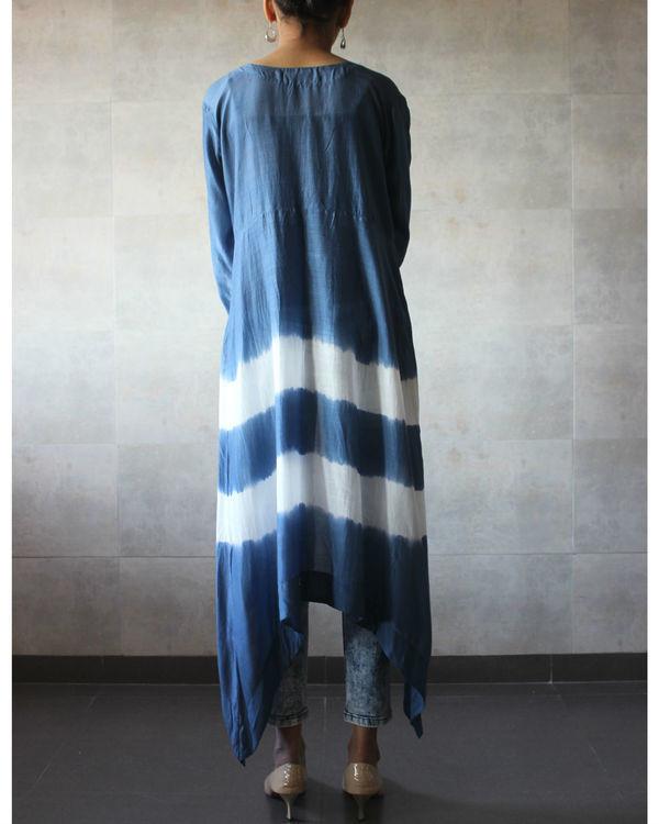 Blue batik cape 2