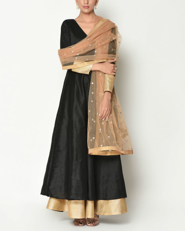 Black layered tunic with dupatta 1