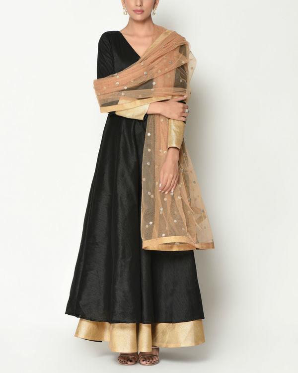 Black layered tunic with dupatta 1