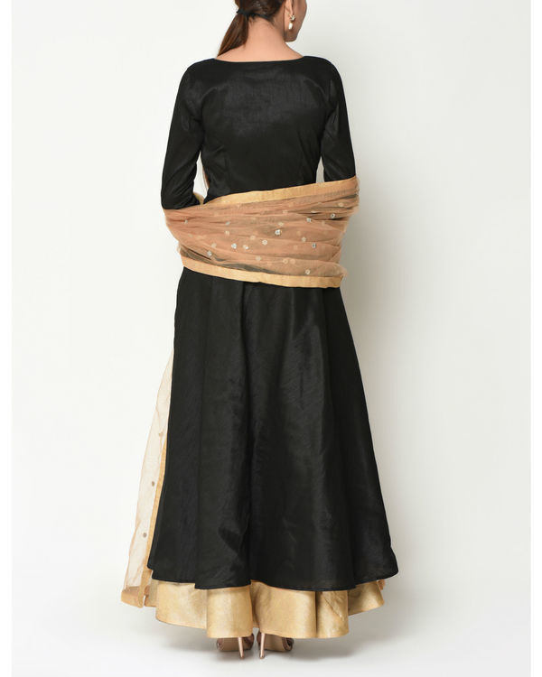 Black layered tunic with dupatta 2