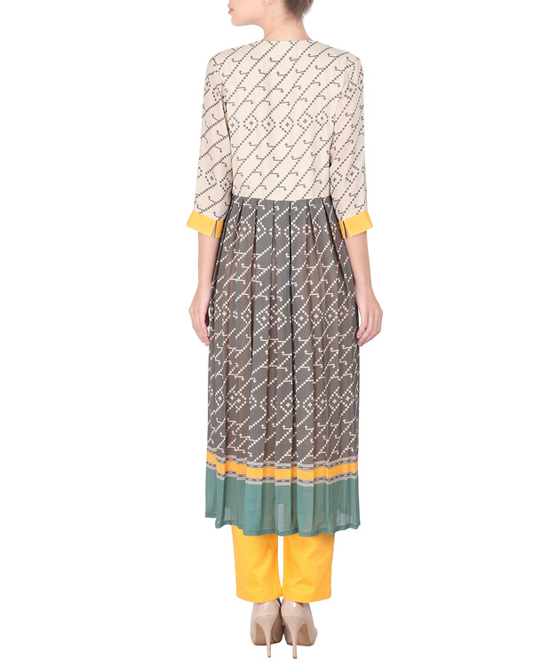 Double georgette long tunic with trousers 2