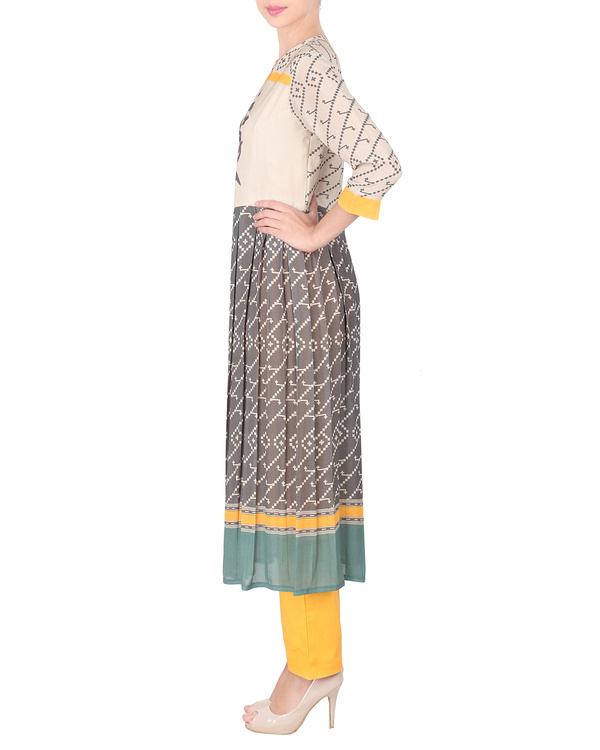 Double georgette long tunic with trousers 3