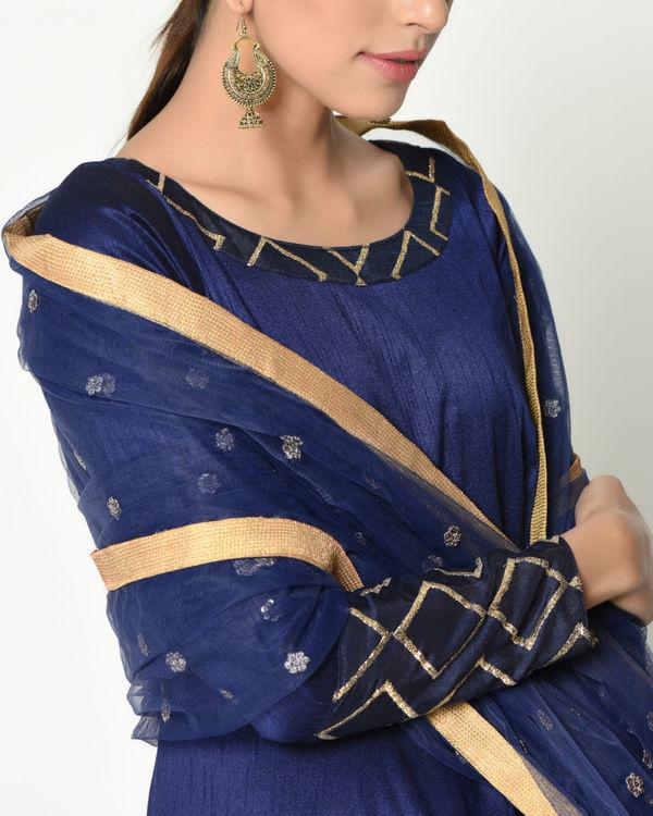Blue layered tunic with dupatta 1