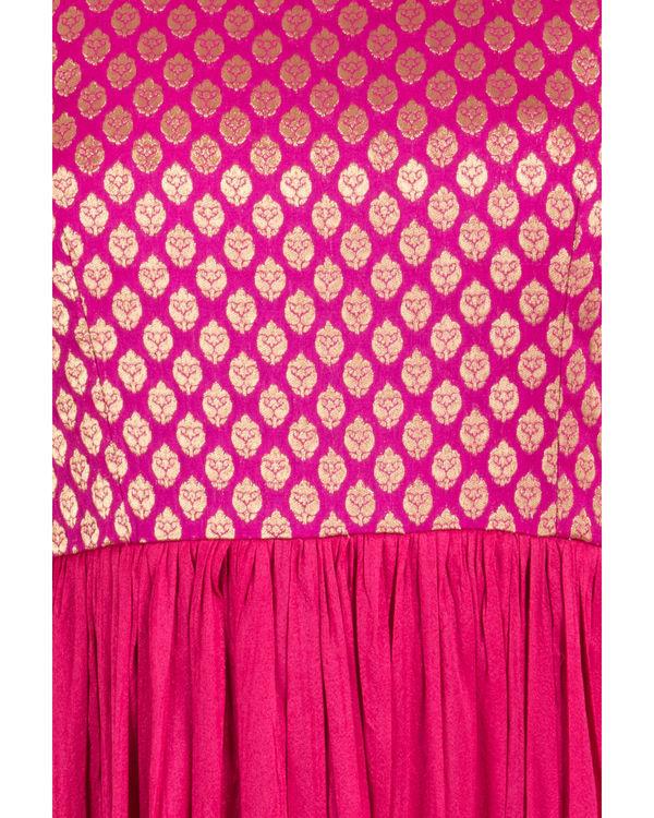 Pink brocade dress 1