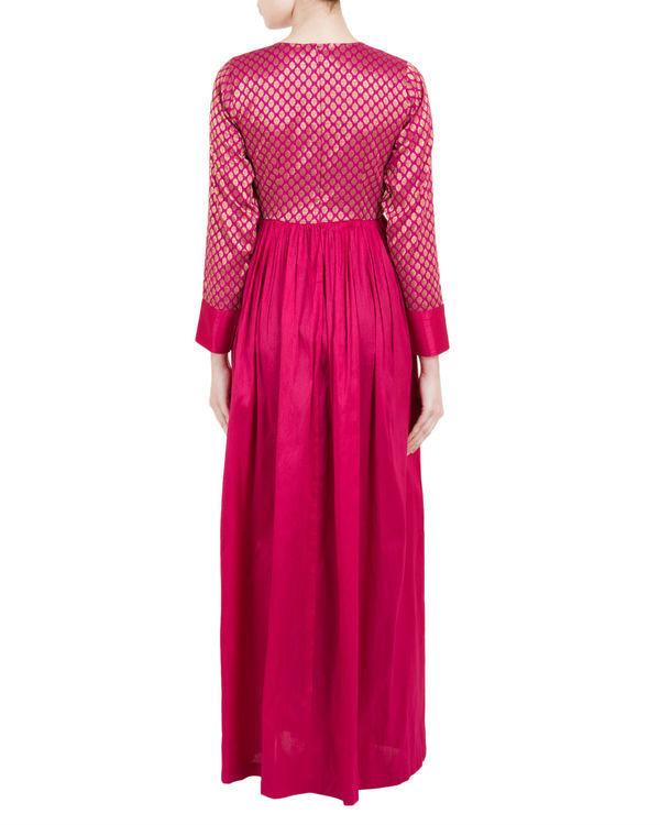 Pink brocade dress 2