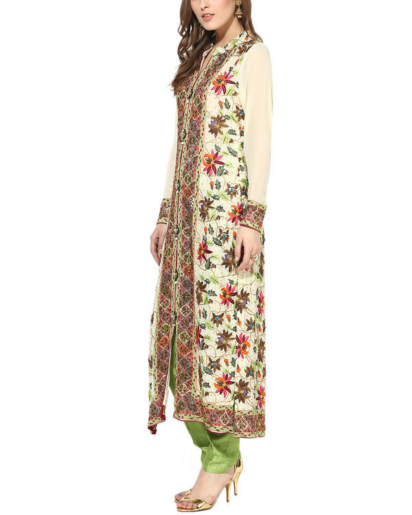 Floral zari suit set 1