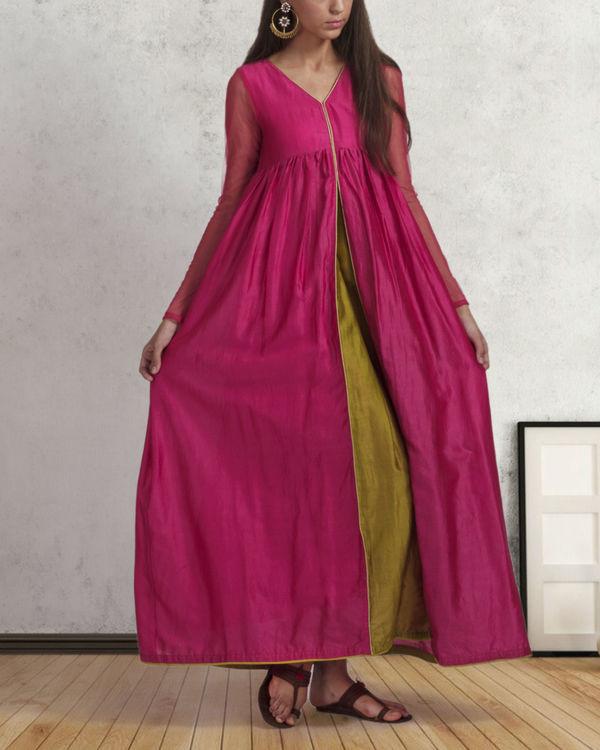 Pink flared dress 1