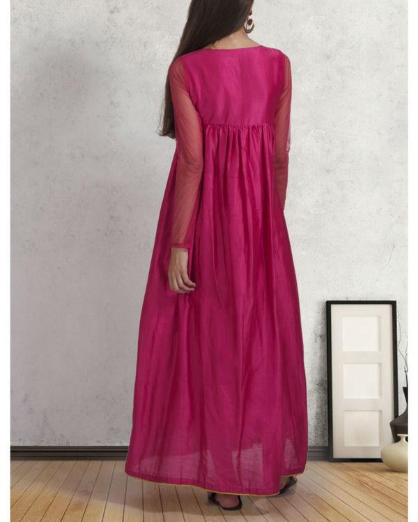 Pink flared dress 2
