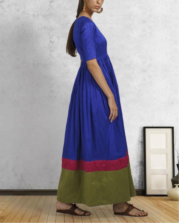 Royal blue double border dress 1