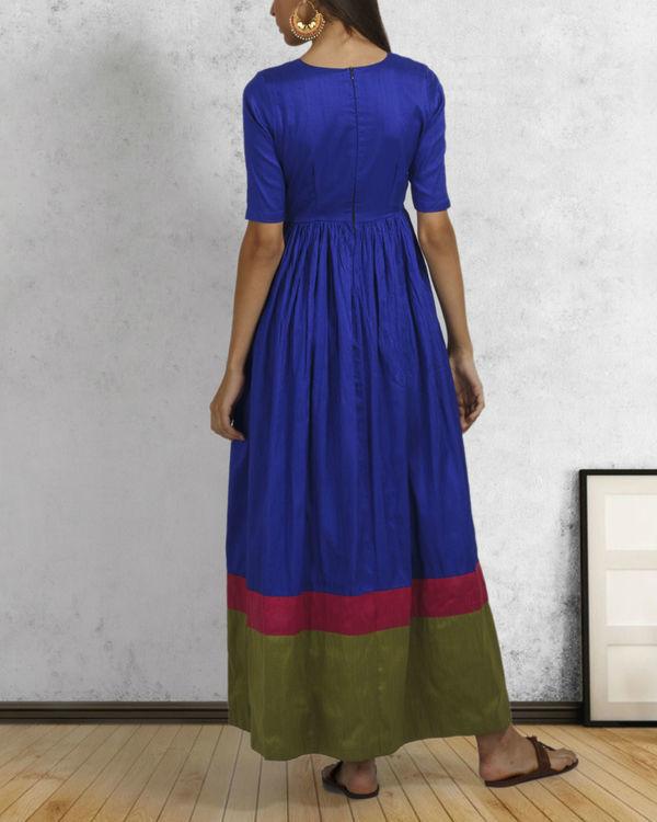 Royal blue double border dress 2