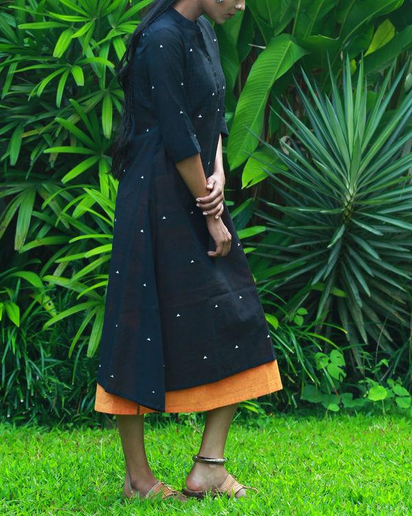 Black kurta with orange camisole 1