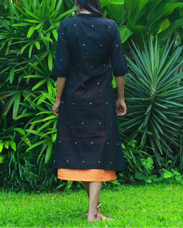 Black kurta with orange camisole 2