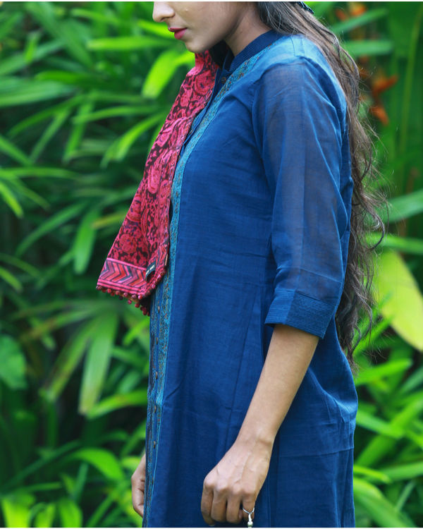 Navy kurta with camisole 1