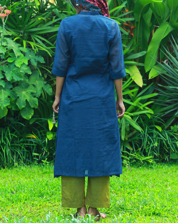 Navy kurta with camisole 3