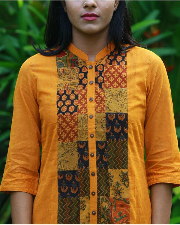 Ochre kurta with camisole 1