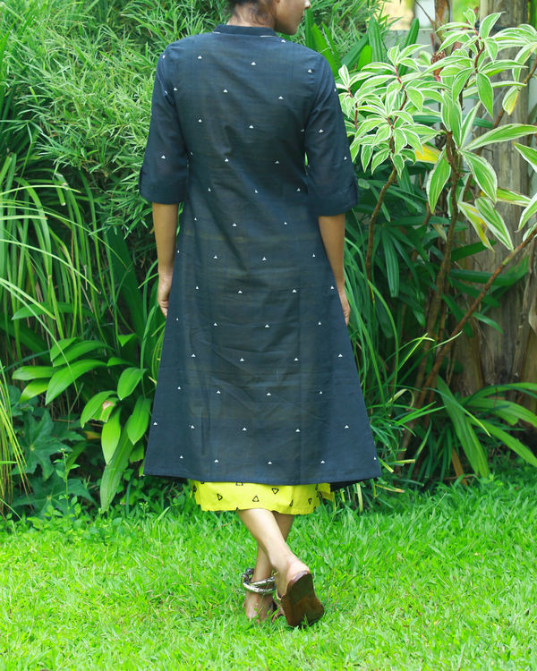 Black kurta with lemon camisole 2