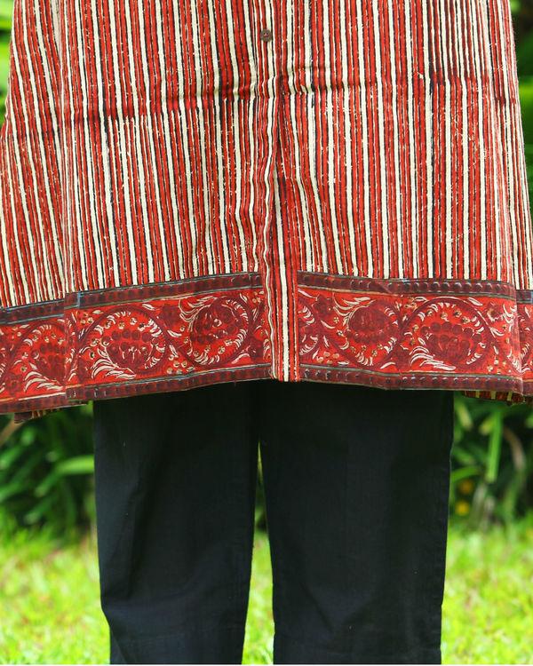 Turkey red striped kurta 2