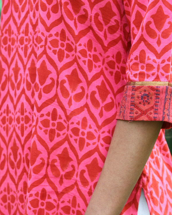 Coral cotton kurta 2