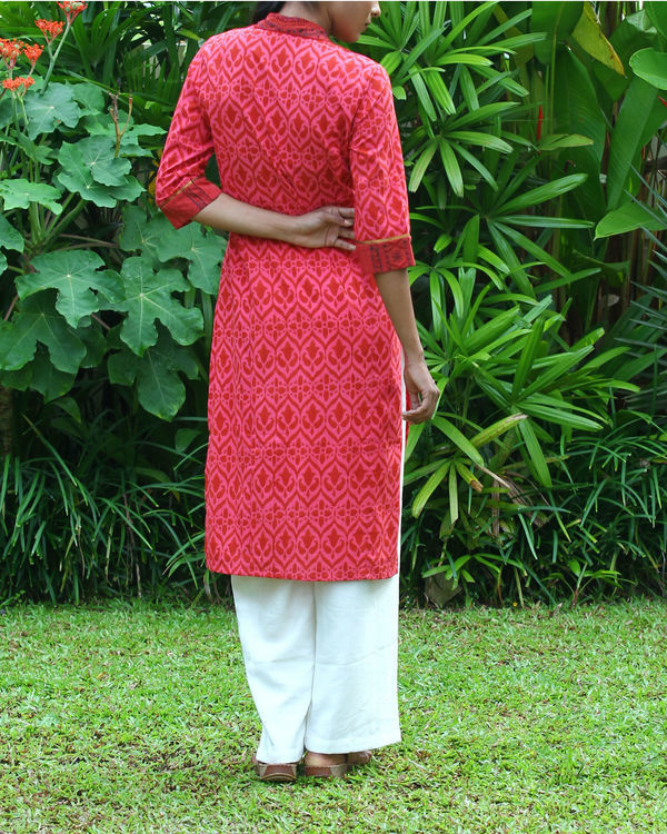 Coral cotton kurta 4