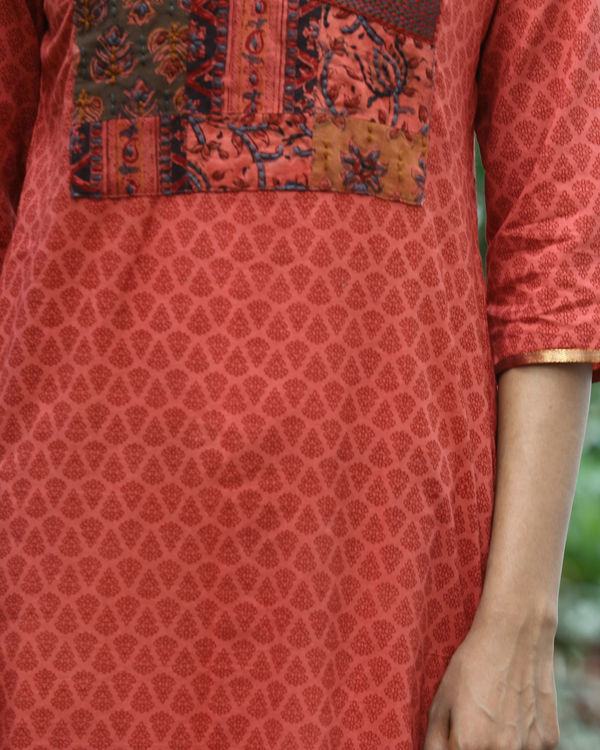 Gajari cotton kurta 1