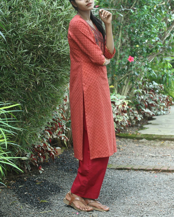 Gajari cotton kurta 3