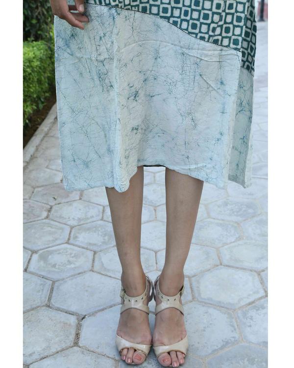 Green block printed summer dress 2