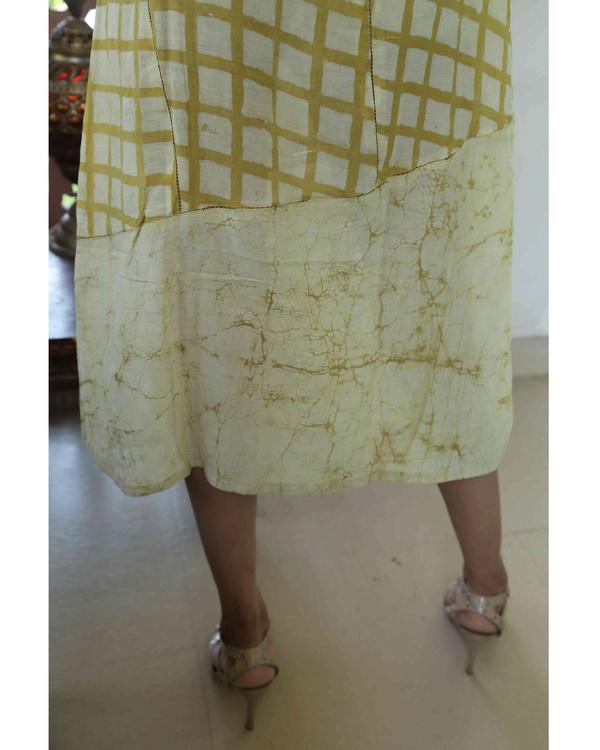 Mustard blockprinted summer dress 1