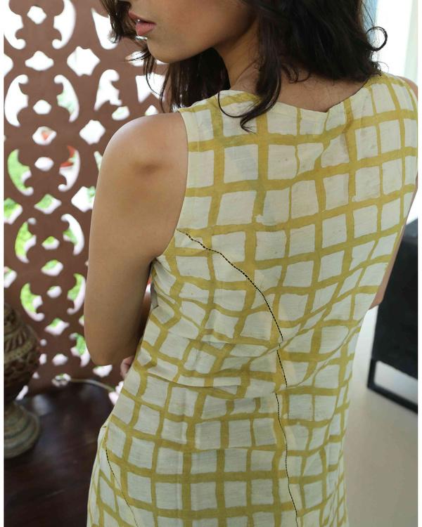 Mustard blockprinted summer dress 2