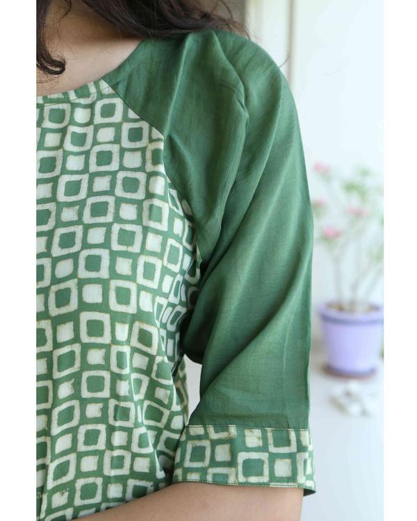 Green blockprint tunic 1