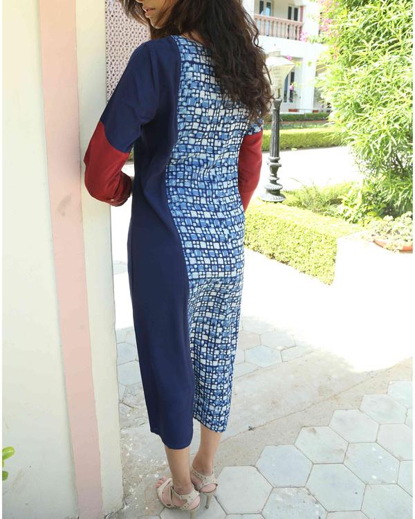 Indigo patchwork tunic 2