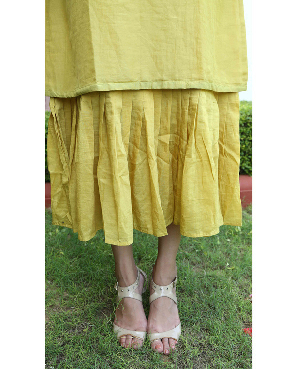 Mustard double layered dress 1
