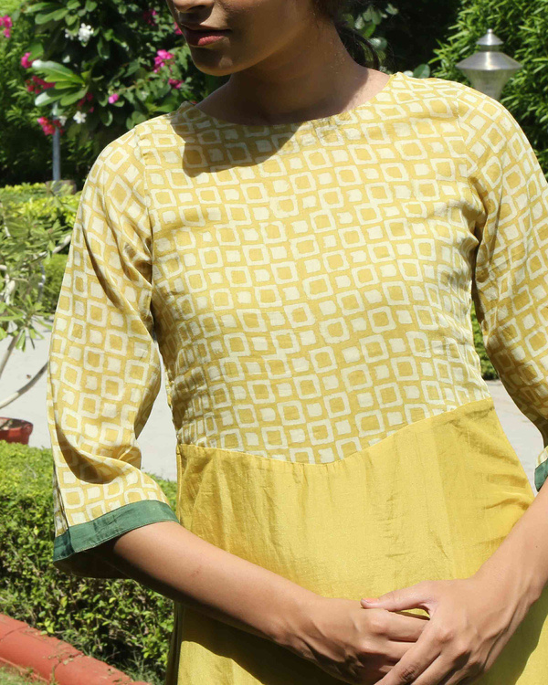 Mustard double layered dress 2