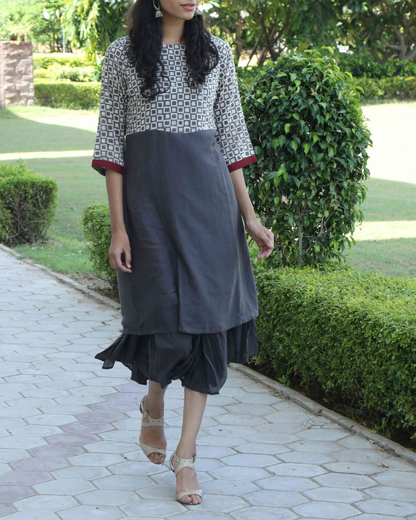 Deep Grey double layered dress 3
