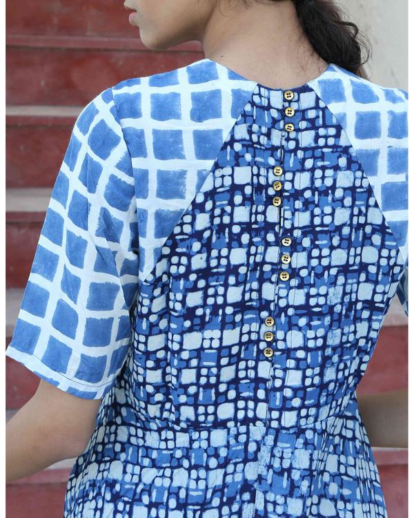 Indigo printed dress 1