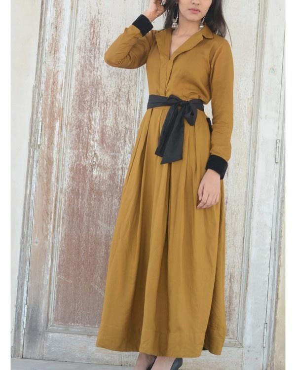 Khakhi maxi dress 1