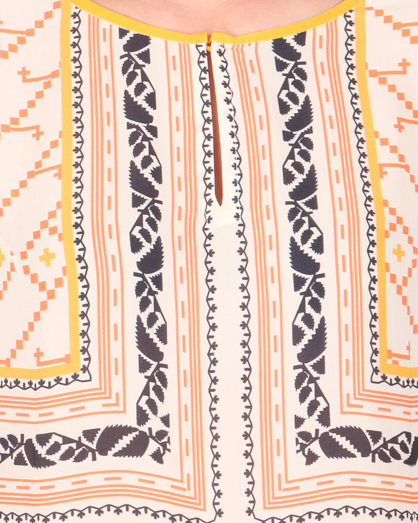 Double georgette peach pink long tunic with palazzos 1