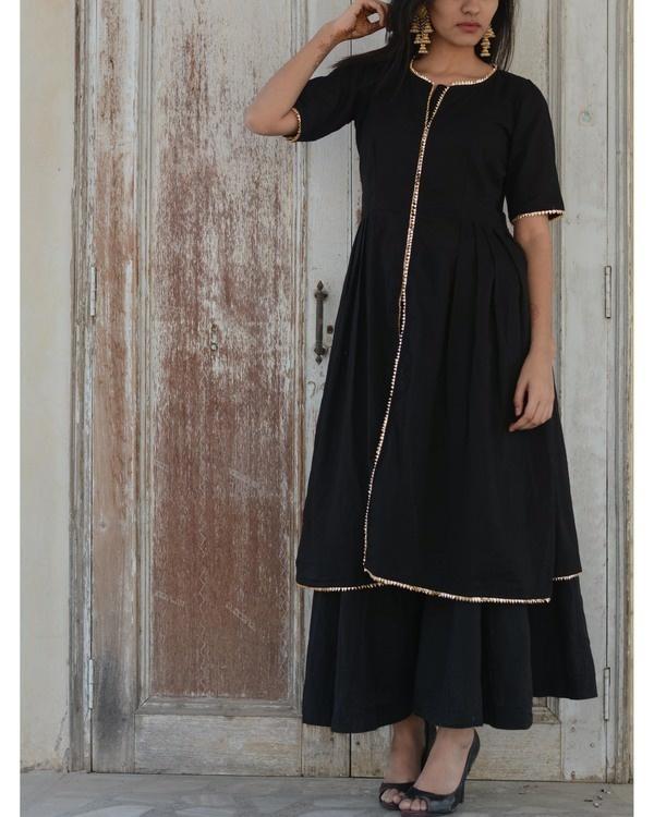 Black gharara set 1